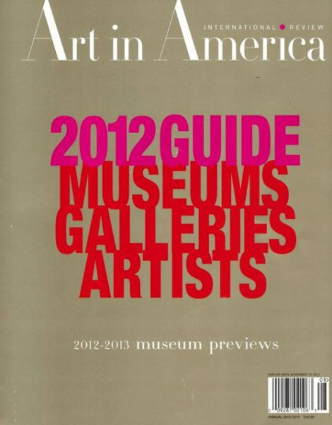 Art in America 2012 Annual Guide