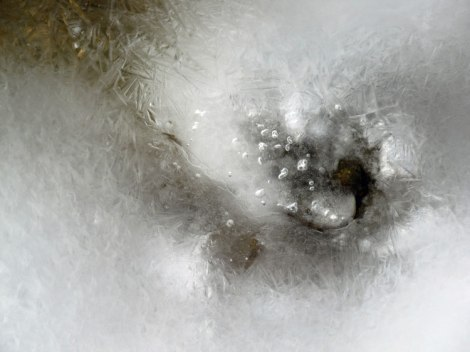 image of spring ice thawing