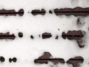 Snow melt patterns 01