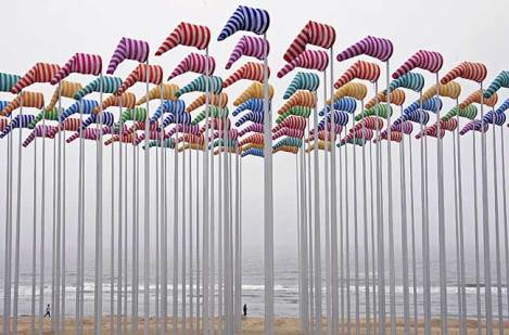 art installation by Daniel Buren