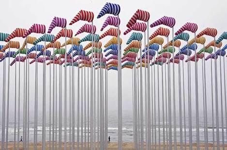 art installation by Daniel Buren