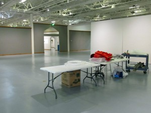 empty space before installation of Terra Ignis at the Nicolaysen Art Museum