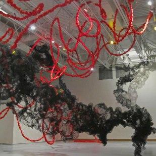ceiling detail of Terra Ignis art installation by Gerri Sayler at the Nicolaysen Art Museum 2014