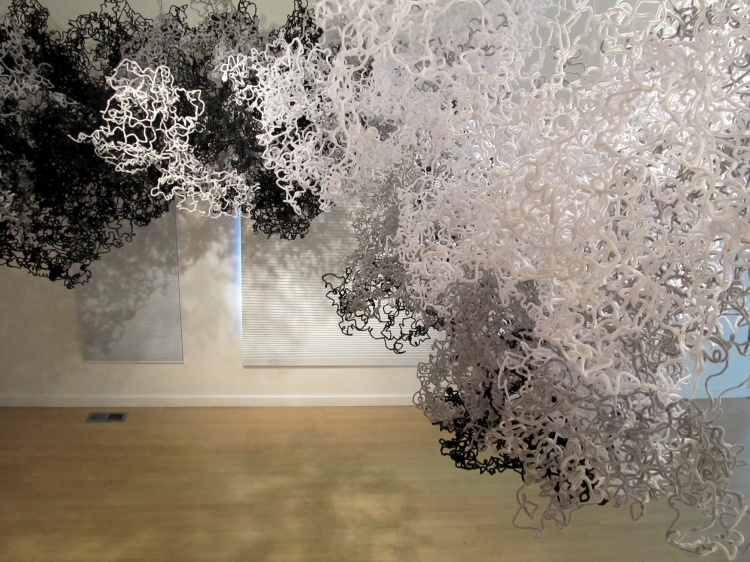 art installation Billow of 20,000 pipe cleaners